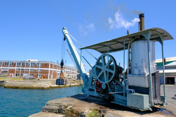 things to do on cockatoo island - Steam Crane Lift
