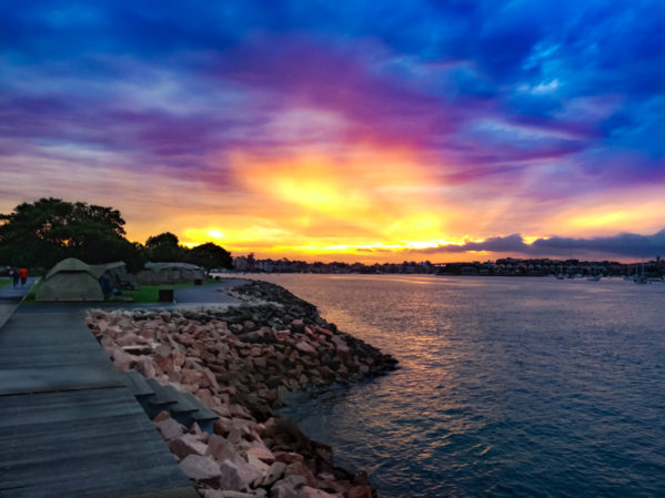 things to do on cockatoo island - glamping sunset