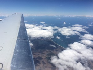 Flying to Tassie