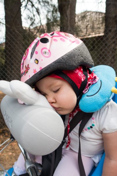 Sleeping Baby On Bike The Best Seats And Pillow Hack