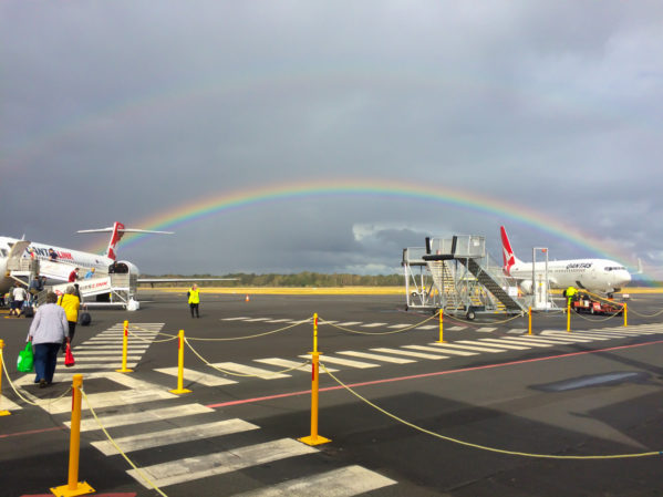 Visiting Tasmania with kids - Rainbow Runway